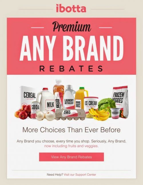 Ibotta Any Brand Rebates
