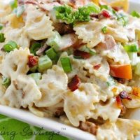 Chicken Bacon Ranch Pasta Salad