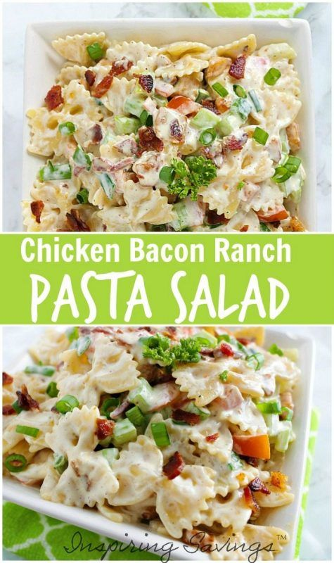 You are going to want to try this Chicken Bacon Ranch pasta salad this summer