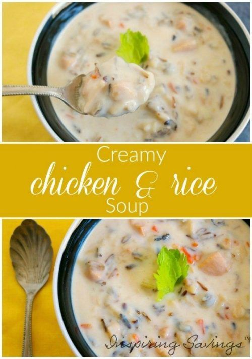 Chicken and Wild Rice Soup made with carrots, corn, chicken, and jasmine rice in a creamy and flavorful broth. Make it in the slow cooker or on the stove.