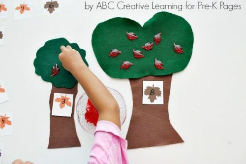 leaf counting craft for kids