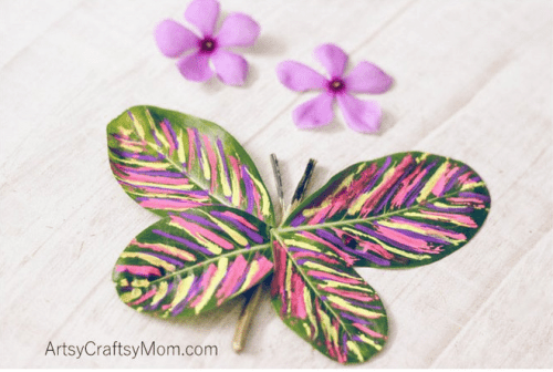 Stick and Leaf Butterfly Nature Craft