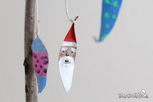Christmas Leaf Painting ornaments