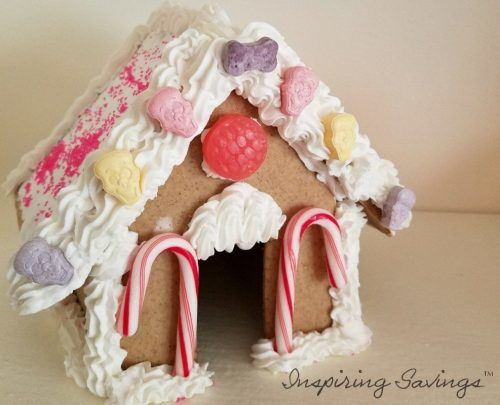 Finished Gingerbread House with Royal Icing