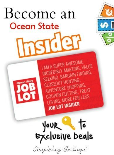 photo relating to Ocean State Job Lot Coupons Printable identified as Grow to be an Ocean Country Insider Member - Excess Benefits Coupon codes