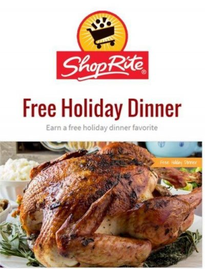 Cooked Turkey on Table with ShopRite Store Logo