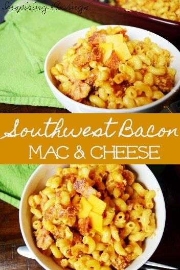 This Easy Southwest Bacon Mac & Cheese is the answer to your dinner time woos. A homestyle classic get a southern make over. Comfort food at its finest.