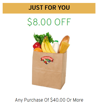 Just for your coupon on Hannaford rewards app