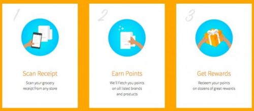 Screen capture of fetch rewards redemption process