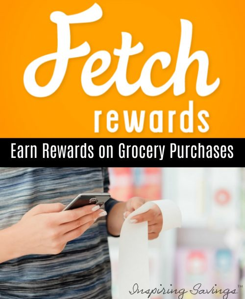 Fetch logo with woman holding smart phone app