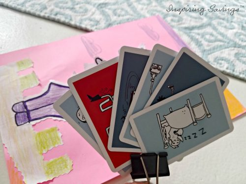 Binder clips as playing card holder
