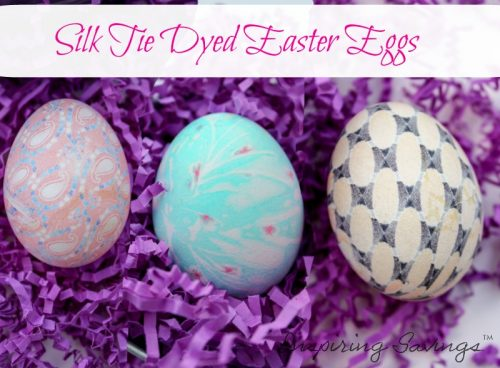 Finished Silk Tie Dyed Easter Eggs