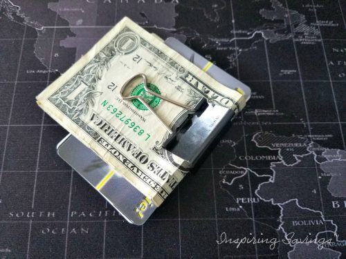 Binder clip as money clip