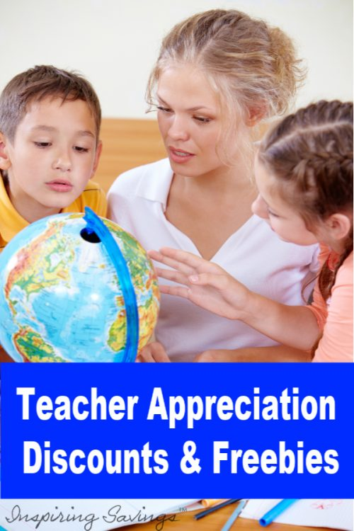 Teacher Appreciation Week has a lot of great freebies and discounts for your favorite teacher or support staff! Brighten up your teacher's day by giving them the gift of savings. See these deals for Teachers during Teacher Appreciation Week