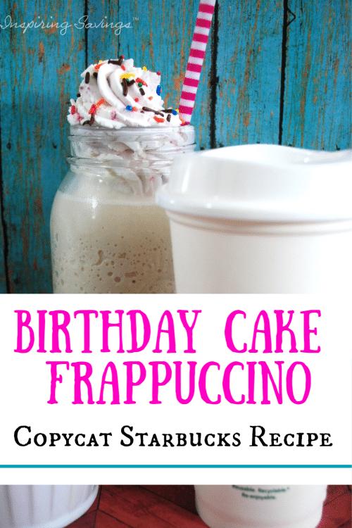 Birthday Cake Frappuccino - Copycat recipe