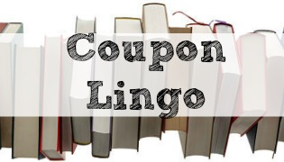 "Books with coupon overlay ""Coupon Lingo"""