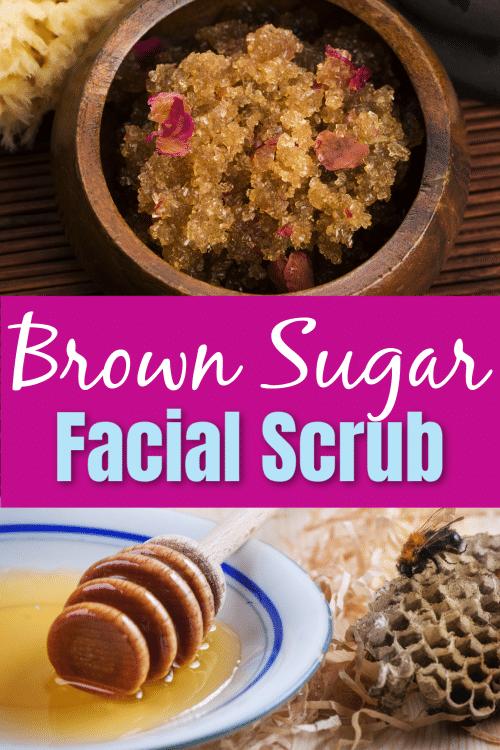 brown sugar facial scrub picture collage