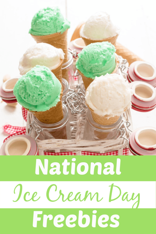White and green ice cream in cones