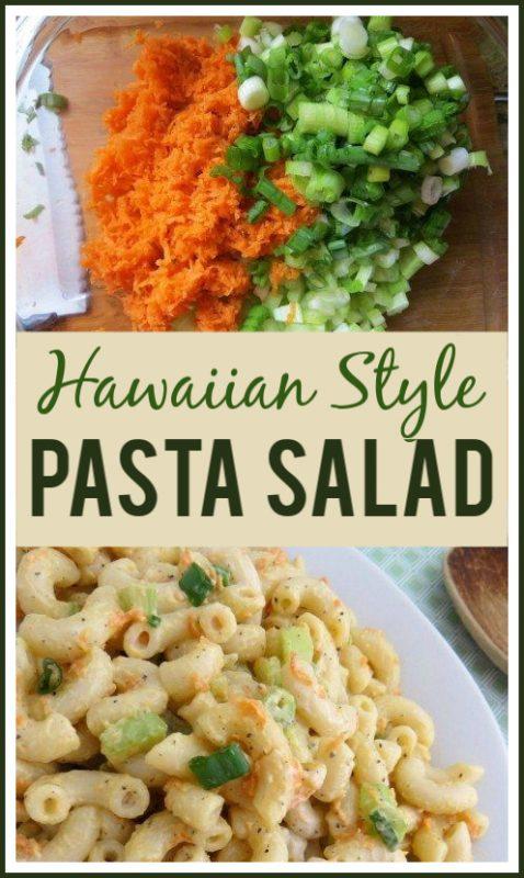 Collage of ingredients used to make pasta salad