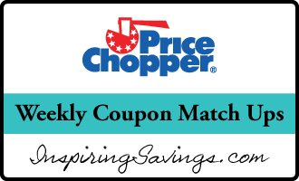 "Price Chopper logo with text ""Weekly coupon match ups"""