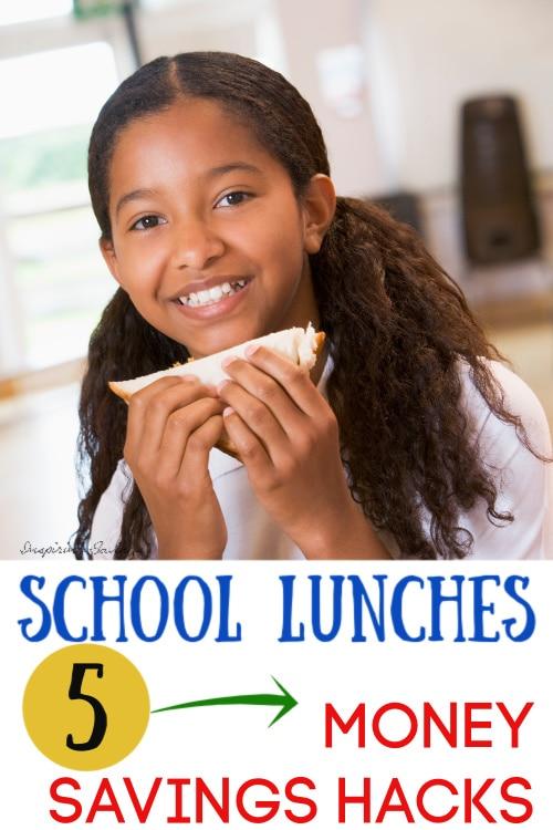 girl eating homemade sandwich at school - school lunch savings