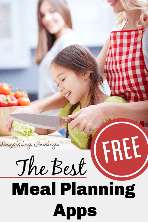 Mother and daughter meal prepping dinner together - the best meal planning apps