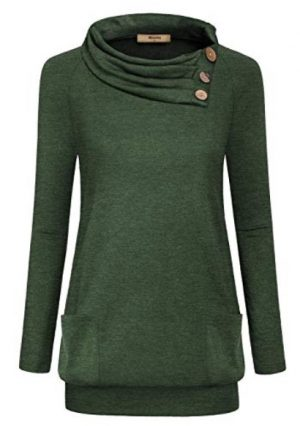 Button Tunic Pullover Shirt