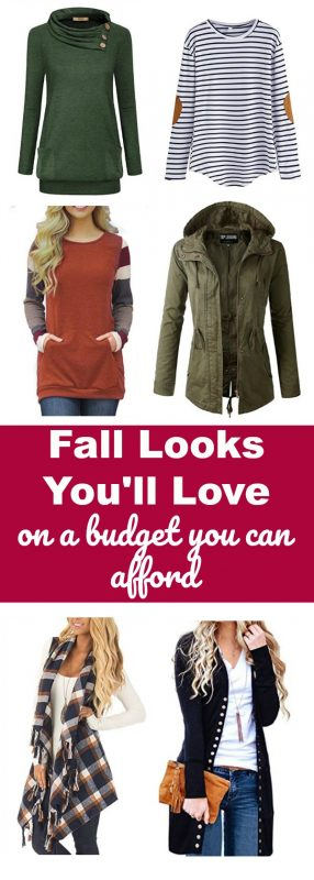 Do you want to look fabulous for Fall without breaking the bank? Look your best no matter what the season. Not everyone has all the money to spend at high-end stores. See these fall looks you'll love on a budget you can afford. #fall #fashion #fallfashion #budget