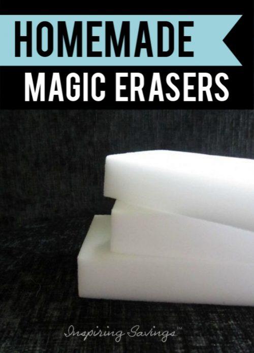 Magic eraser with black backdrop