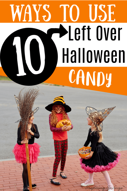 Children dressed up for halloween with halloween candy