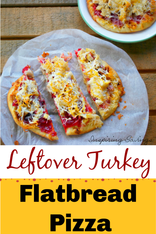 Leftover Turkey Flatbread Pizza