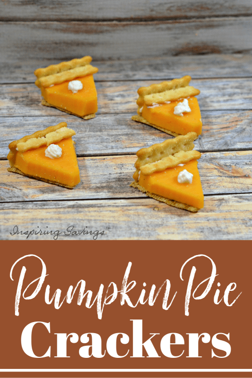 Mini Pumpkin Pies made from cheese & crackers