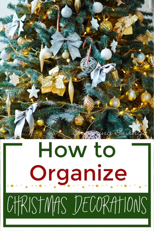 Easy & Smart Tips for Storing & Organizing Christmas Decorations safely. These tips will help to make decorating easier for next year. Plus will help you detangle, declutter, condense, and protect all your Christmas decorations.