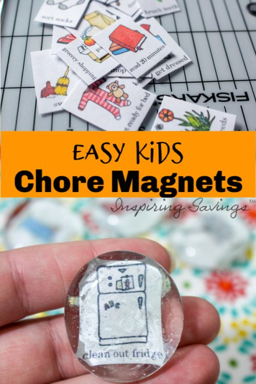 This tutorial will show you how to make an Easy Chore Magnets for Kids. Teach responsibility and bring organization to your home. This FUN DIY project will make you feel more organized.