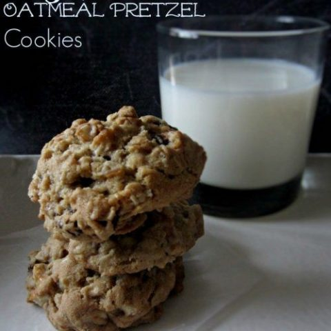 Salty Sweet Oatmeal Pretzel Cookies