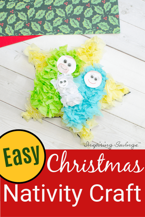 Christmas Nativity Craft for kids made out of Tissue paper