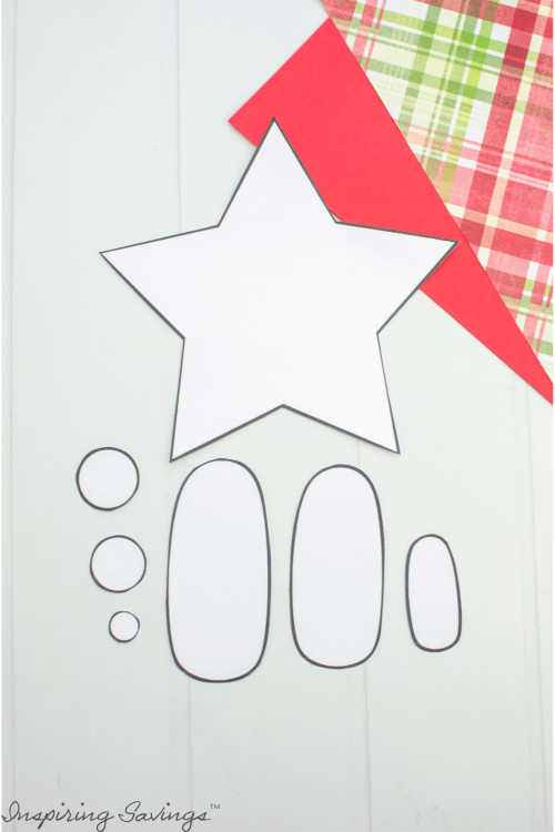 Cut out template for Christmas Nativity Craft