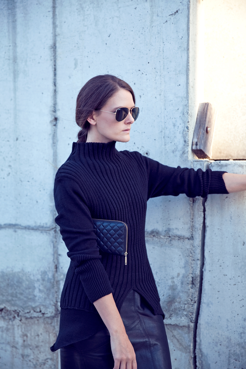 Morrison Knit Matteo pullover worn by Jenelle Witty of Perth Fashion blog Inspiring Wit