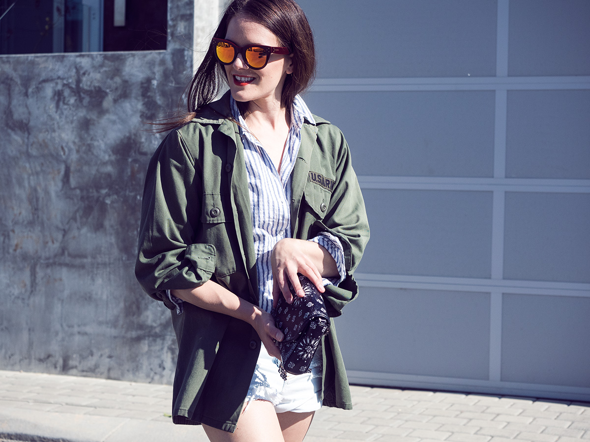 Olive jacket, outfit from Inspiring Wit, Perth and Australian fashion blog by Jenelle Witty