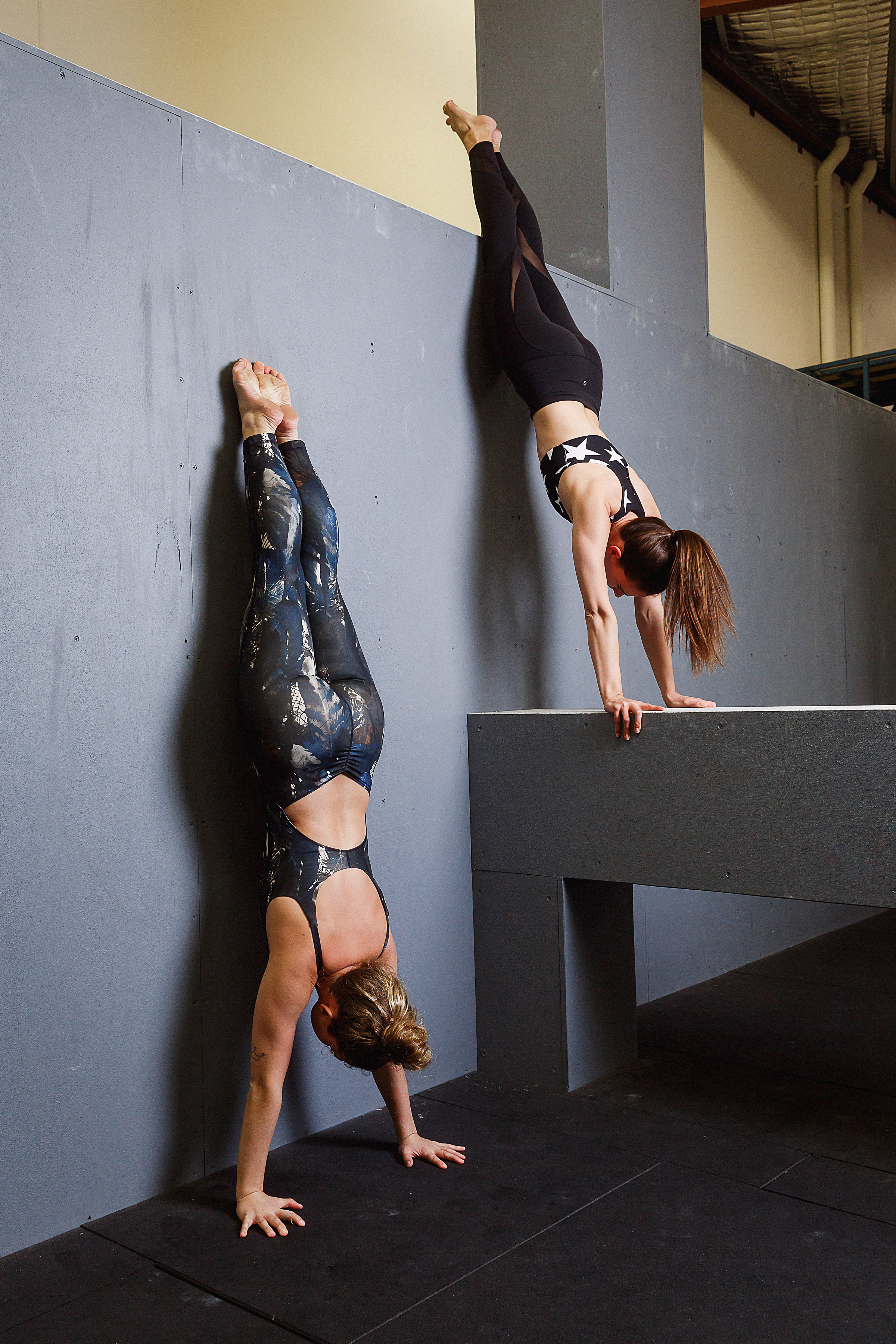 Movement co with jenelle and Mon handstands
