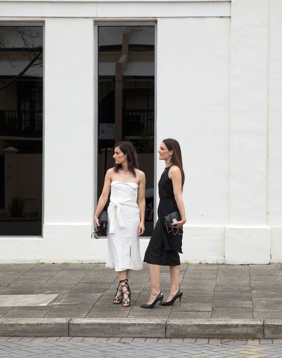 Perth fashion bloggers She Does (left) @shedoesstyle and Inspiring Wit (right) @inspiringwit in Wild Horses for race wear