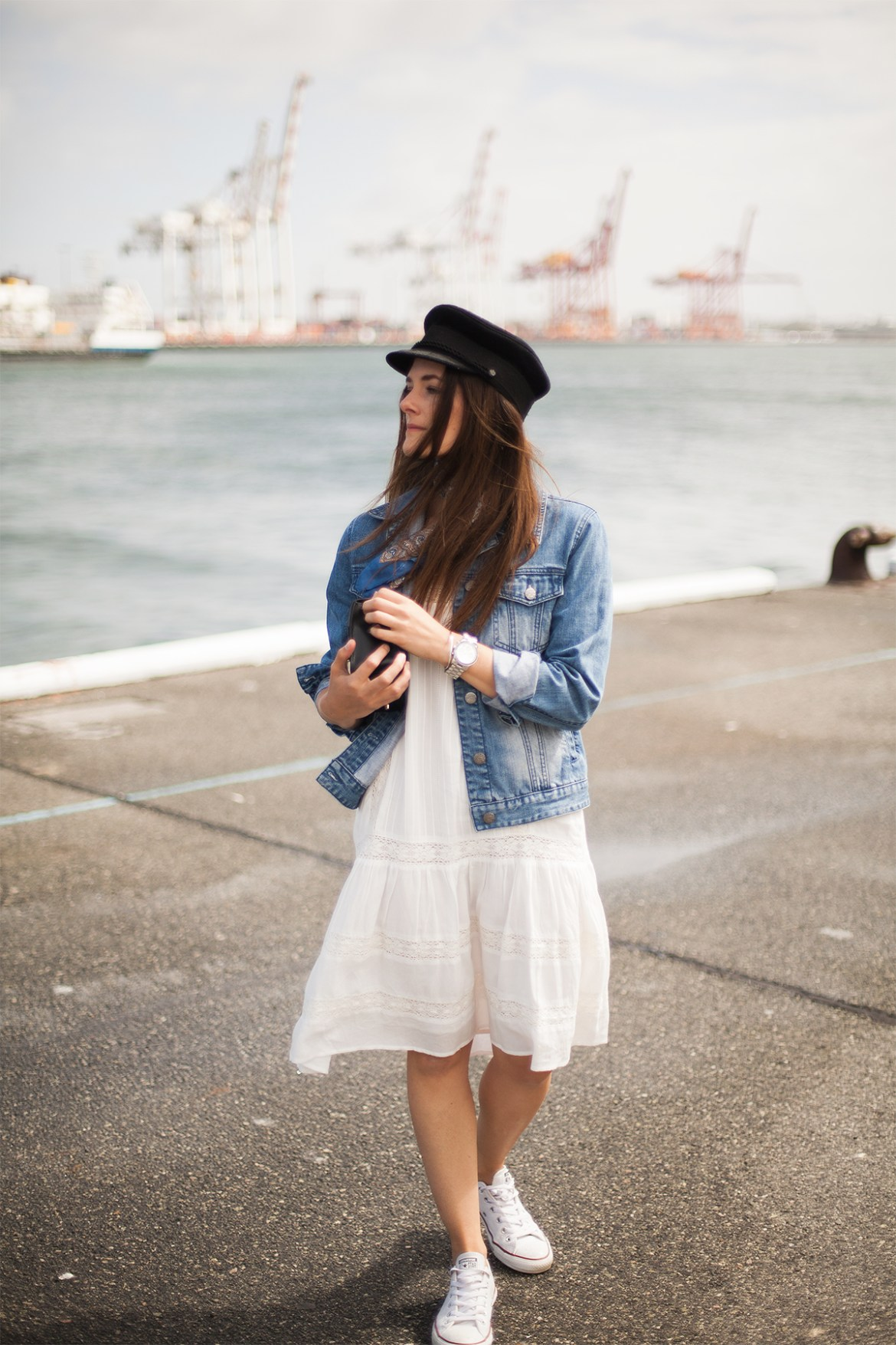 Four outfits I have been wearing in the height of Summer Bohemian Traders white dress and denim jacket.