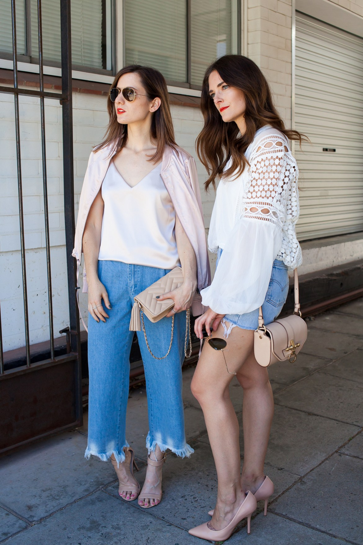 Perth fashion bloggers Inspiring Wit and She Does in MVN label street style denim