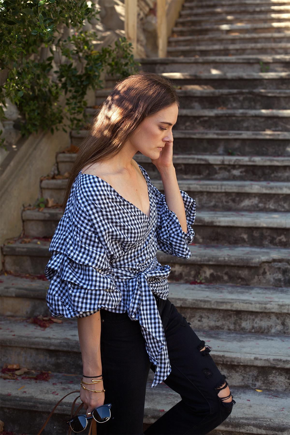 gingham top inspiring wit Australian fashion blogger