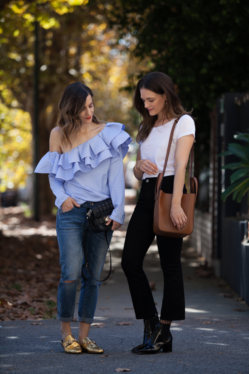 Winter layering, with Inspiring Wit blogger Jenelle and She Does blogger Emily, street style