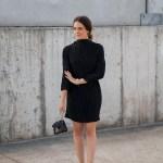 Third Form Rolling Winds black Dress worn by Australian fashion blogger Inspiring Wit
