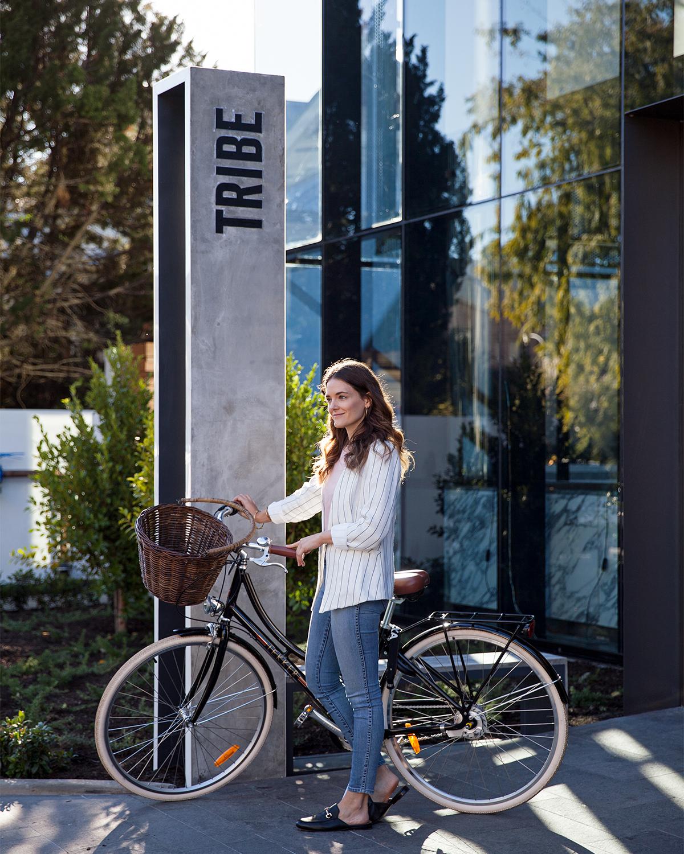 Tribe Hotel Perth Lekker loan bikes, Jenelle from travel blog Inspiring Wit hotel profile