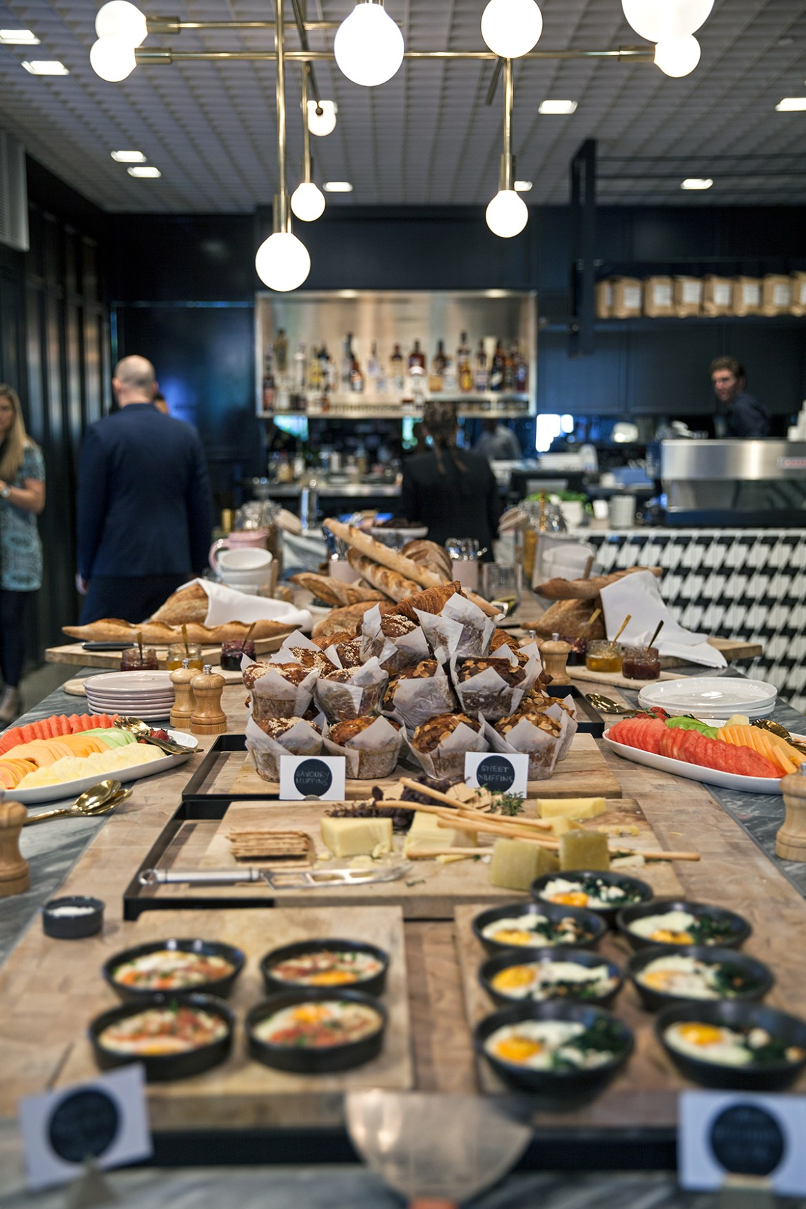 Tribe Hotel Perth, coffee bar and breakfast buffet Jenelle from travel blog Inspiring Wit boutique hotel profile
