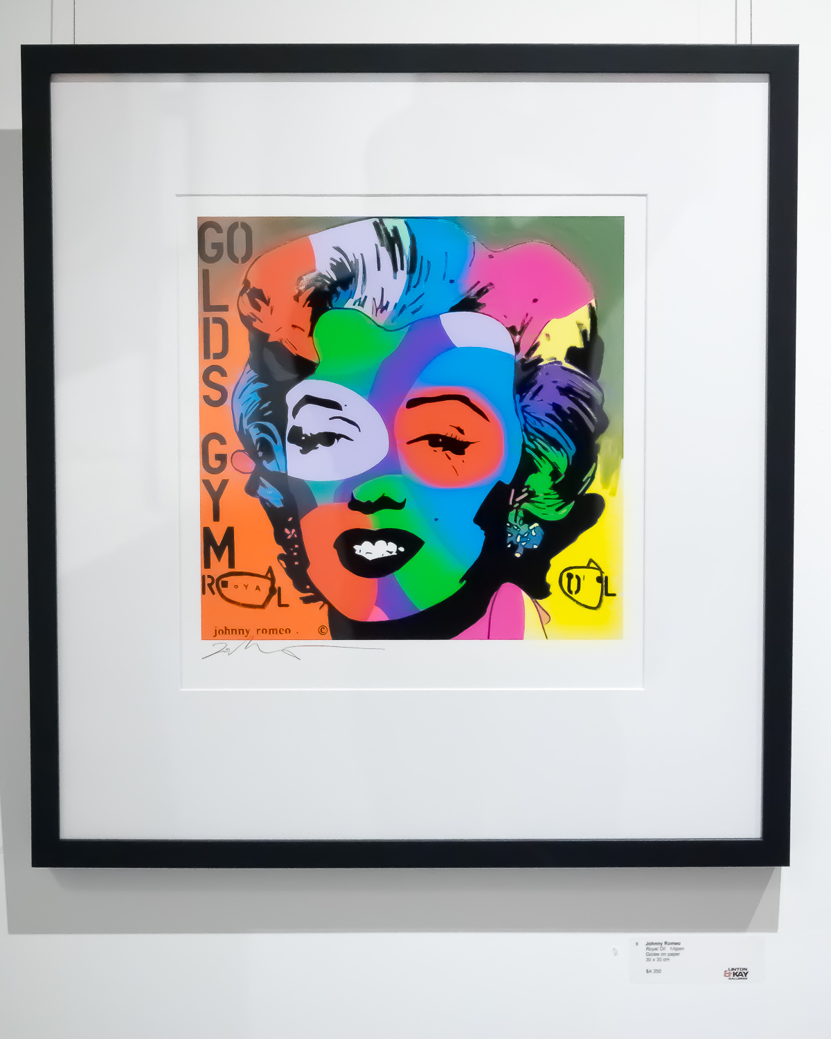 Johnny Romeo pop art at Enex