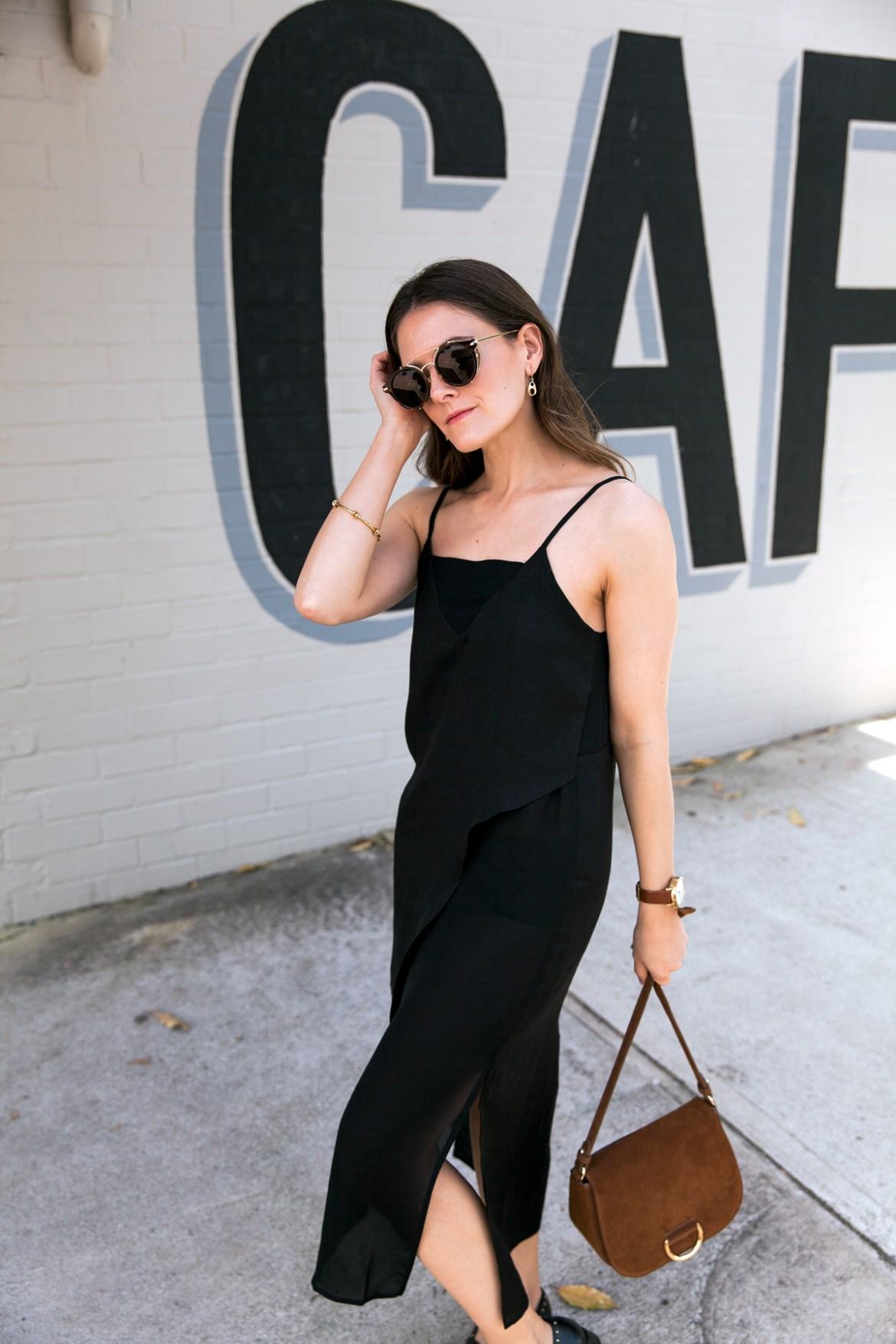 Hadid Eyewear glasses black slip dress